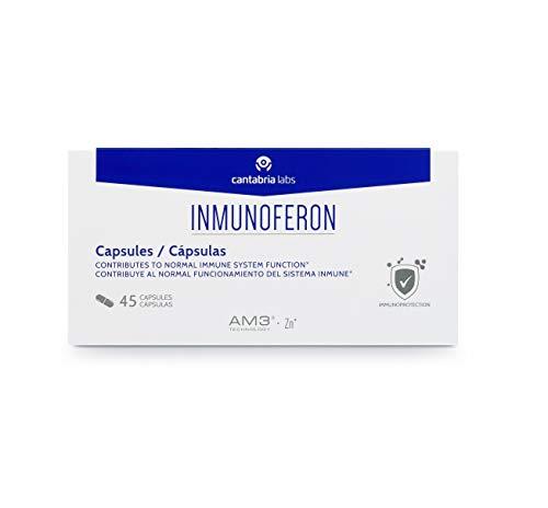 Inmunoferon Complemento Alimenticio - Refuerza el Sistema Inmunológico, Ayuda a las Defensas, Fórmula Exclusiva con AM3, Sin Gluten, Sin Lactosa, 45 cápsulas