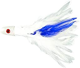 IM Vera White/Blue Skirt, 1/2 No Alibi NA-F08-1/2 Trolling Feather Lure