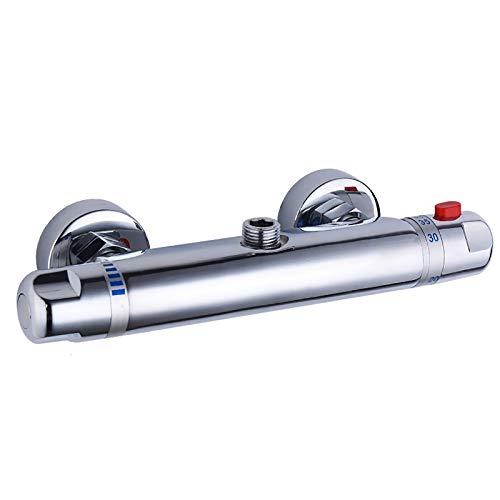 MOMIN Válvula de desviador Mezclador Moderna Barra Termostática Válvula Mezclador de Ducha Válvula Termostática Válvula Termostático Cromo Ducha Termostática Ducha de Ducha Fija baño