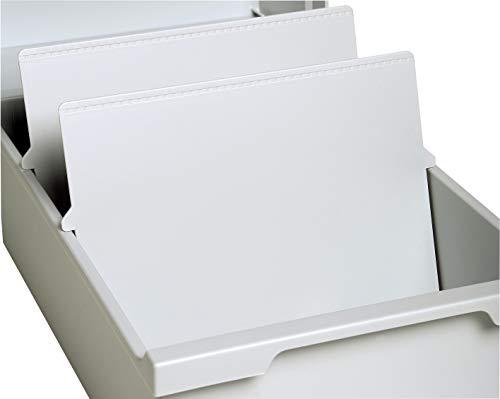 Exacompta 54540D Set mit 2 Trennplatten (für Karteitrog oder Karteikasten, DIN A4 quer) 1 Set, lichtgrau