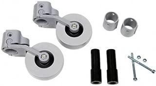 Kit de ruedas traseras para andador (adaptable a tubos de 22, 25, 30 mm)