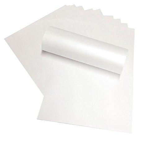 10x Perlglanz-Papier, Schneeweiß, 120g/m², A4, Doppelseitig, geeignet für Tintenstrahl- und Laser-Drucker