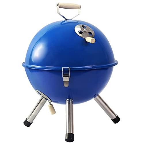 FEANG Grill Tragbarer Holzkohle-Grill Kleiner BBQ für 3-5 Personen mit Lüftungsöffnungen zur Temperaturregulierung - Perfekt für den GRILF Camping Grill Grillwerkzeug (Color : Blue)