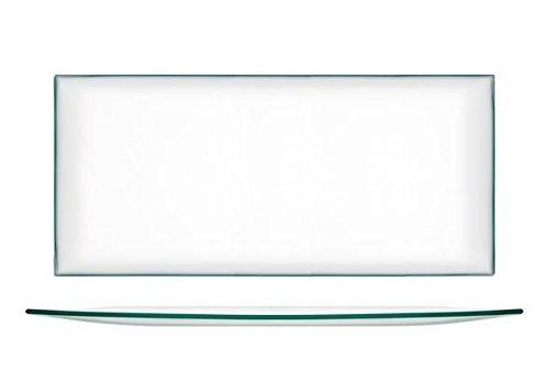 H&H Transparent, Teller, Glas, Rechteckig, 39 x 21 cm, Glas, 1 Stück