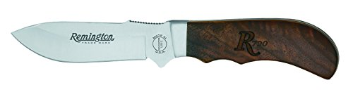 Remington Messer Heritage 700 Big Game Drop Point Jagdmesser mit Walnuss-Holzgriff und Lederscheide