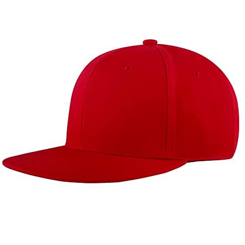 KELOYI Snapback Gorras Hombre Mujer de Béisbol Cap Rojo Ajustable Transpirable Cómoda Casuales Moda Classic