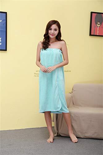 MGHN Toallas Moda algodón Absorbente Señora usable en el Pecho Abrigo de baño de Belleza Baño Sauna Falda Ropa de Playa SPA Albornoces de baño de la Falda (Color : Blue, Size : 140x80cm)