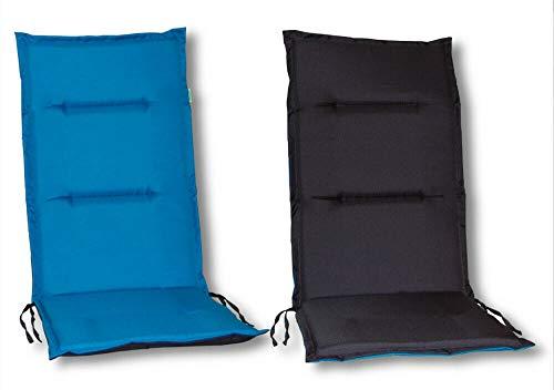 Hobbygarden Marta Pillow - Cortina, Color Azul y Gris