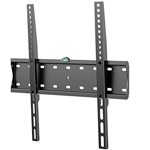 PUTORSEN Soporte TV de Pared para la Mayoría de los Televisores LED, LCD, OLED, Plasma Plana y Curvada de 32-55 Pulgadas - Soporte de TV con VESA Máxima de 400x400mm Peso de hasta 40kg