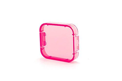 vhbw Korrektur-Filter Linsenschutz pink passend für Action-Kamera GoPro Hero 5, 6