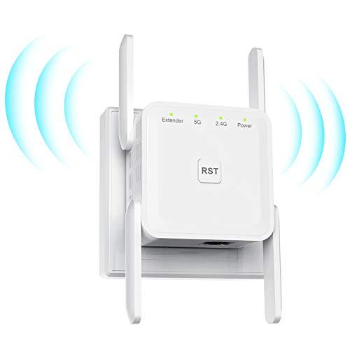 1200Mbps Repetidor WiFi Amplificador Señal WiFi Repetidor Señal WiFi, Amplificador WiFi, Admite Modo Ap/Repetidor/Router,5GHz/867Mbps 2.4GHz/300Mbps,Compatible con Enrutador Inalámbrico - Blanco