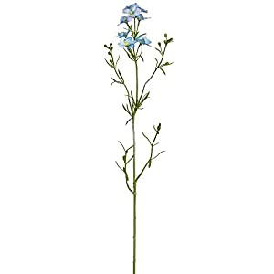 29″ Silk Larkspur Delphinium Flower Stem -Light Blue (Pack of 12)