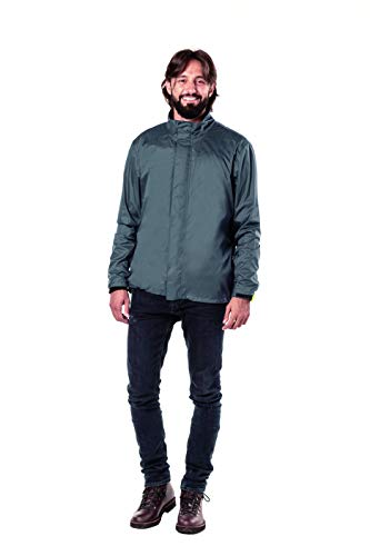 Tucano Urbano - Chaqueta Tucano Nano Rain Alpha para hombre, Unisex adulto, Abrigo de vestir, 775G4, gris oscuro, medium