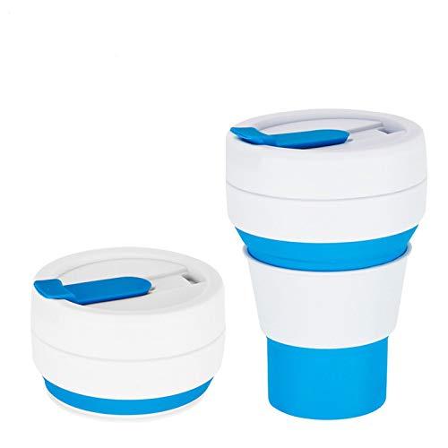 Botella de agua plegable de la botella de agua del gel de silicona libre de BPA a prueba de fugas de 600 ml / 20 oz Resistencia a -40 Botella ℃ ~ 220 ℃ Deportes para Camping gimnasio entrenamientos y