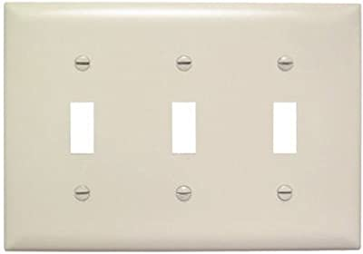 Legrand Pass Seymour Tp3lacc12 Tp1wcp10 Toggle Switch Wall Plates Three Gang 1 Pack Light Almond Blank Wall Plates Amazon Com