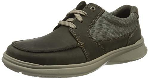 Clarks Cotrell Lane 261486527, Zapatos de Cordones Derby para Hombre, Verde (Olive Combi Olive Combi), 42 EU
