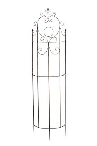 CLP Eisen-Rankgitter Lavendel im Landhausstil I Rankzaun mit stilvollen Verzierungen I erhältlich, Farbe:Bronze