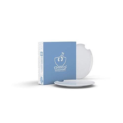 Fiftyeight Products Tellerchen 15 cm 2er Set weiß mit Biss