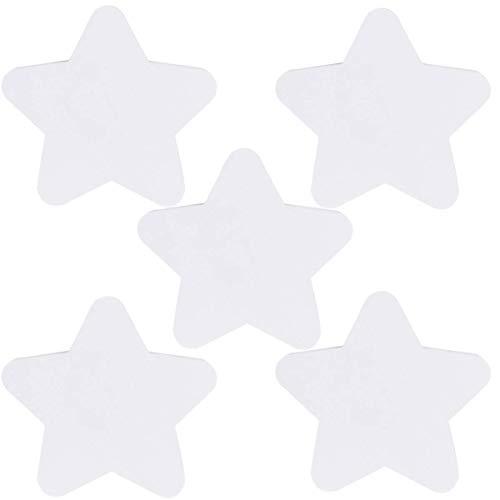 LIXBD Lot de 5 tableaux de peinture sur toile à bord rond en forme d'étoile vierge pour artistes, peintres, étudiants et enfants 15 x 15 cm