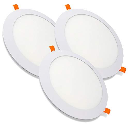 PACK X3, Downlight LED, Lamparas De Techo, Lampara De Techo, de 20W con 2000 Lúmenes (4500K LUZ NEUTRA)