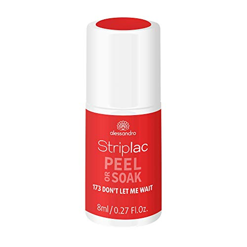 alessandro Striplac Peel or Soak - DON`T LET ME WAIT - LED-Nagellack in Rot- Für perfekte Nägel in 15 Minuten, 8ml