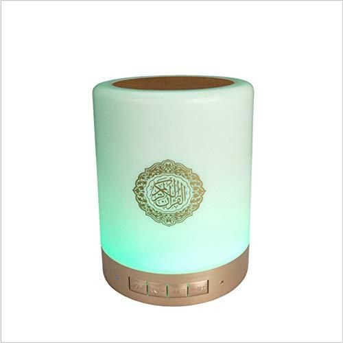 SQ112 Quran Smart Touch LED Lampe Bluetooth Lautsprecher mit Fernbedienung wiederaufladbar, vollständige Rezitationen berühmter Imams und Koran Übersetzung in vielen Sprachen