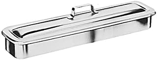 Grafco Instrument Catheter Tray with Handle, Stainless Steel, 8.8x5x2