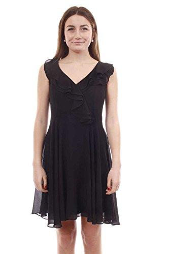 Fracomina Damen Kleid Flare Dress Black FR18SM094 (Black, M)