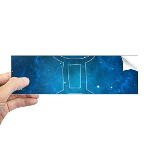 DIYthinker Starry Night Gemini Zodiac sterrenbeeld Rechthoek Bumper Sticker Notebook Window Decal