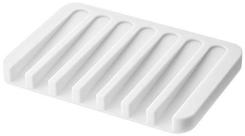 YAMAZAKII Flow Seifenablage, Weiß, One Size