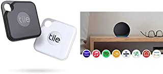 $89 » Tile Pro2-pack High Performance Bluetooth Tracker Keys Finder and Item Locator for Keys and Water Resistance and 1 Year Re...