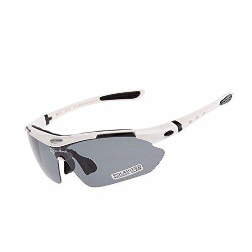 ROCKBROS Occhiali da Ciclismo Occhiali Polarizzati Sportivi Anti-UV 400 Protezione con 5 Lenti...