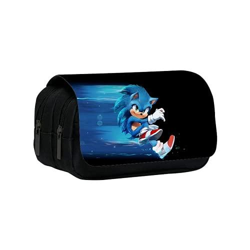 Sonic The Hedgehog Estuche para lápices para niños y niñas, bolsa de...