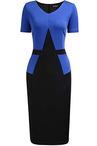 REPHYLLIS Women Bodycon Office Church Elegant Midi Work Pencil Sheath Dress