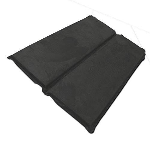 ピカキュウ トヨタ エスクァイア [ZRR80系前期/後期] 対応 車中泊マット ブラック エアーベッド 簡易ベッド 高機能ウレタン 自動膨張式 マットレス 厚さ10�p 2枚入 コンパクト 高級ベロア素材