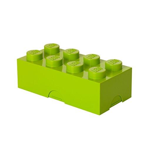 Boîte à lunch LEGO 8 plots, petit conteneur de rangement ou porte-crayons, vert fluo