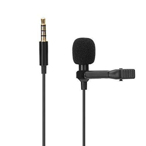 DAUERHAFT Micrófono con Pinza para el Cuello Respuesta de frecuencia Amplia, para teléfono con Interfaz Universal de 3,5 mm con núcleo Capacitivo de electrodo de Cuerpo de pie