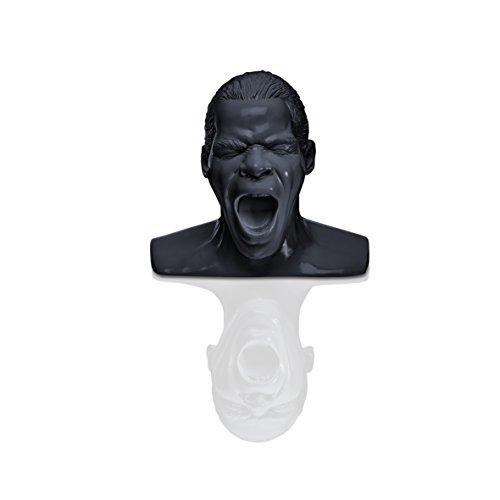Oehlbach Kopfhörerständer Scream | Handmade, Kunstharz, Schwarz | kultiger Oehlbach-Kopf zur Aufbewahrung von Over- und On-Ear-Kopfhörern