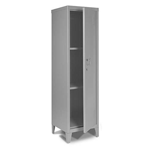 IDMarket - Armoire vestiaire Estel en métal gris foncé