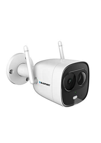 Blaupunkt 5000092 VIO-BX20 DuoCam VIO-BX20-Full-HD Sicherheitskamera & LED-Außenleuchte mit Bewegungssensor-Hören & Sprechen via Gratis App, Push-Nachrichten, 30m IR-Nachtsicht, Schutzklasse IP67