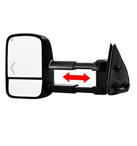 Make Auto Parts Manufacturing Left Side/Driver Side Textured Black Power Operated Manual Folding Telescopic Type Towing Mirror for Chevrolet Silverado 1500 2003-2007 / GMC Sierra 2007 - GM1320355