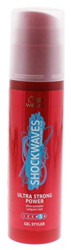 Wella ShockWaves Power Gel Styler ultra strong, Ultra-schneller Langzeit-Halt, 1er Pack (1 x 100 ml)