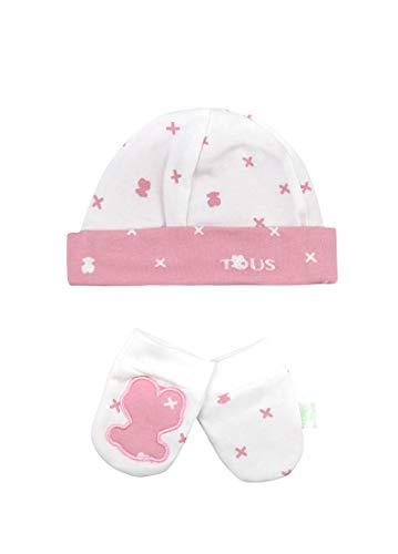 TOUS BABY set muts + handgrepen XBEAR-1203 roze