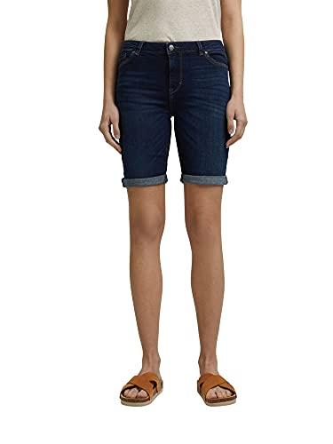 ESPRIT Damen 031EE1C303 Jeans-Shorts, 901/BLUE Dark WASH, 34