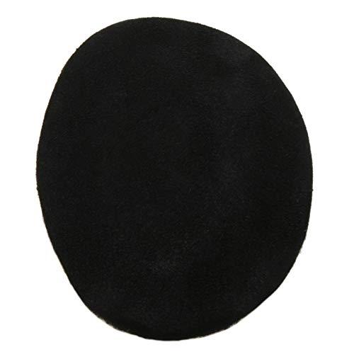 Earbags Cache-oreilles en cuir, personnalisables Large Daim noir.