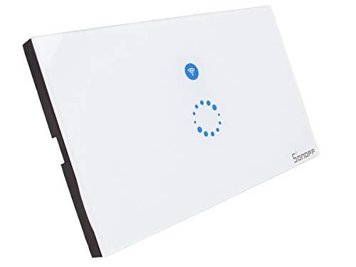 LEDLUX Sonoff Touch Pannello Compatibile Con Scatola 503 Italiana Interruttore WIFI Smart Con APP eWeLink Max 2A Funzione Deviatore Compatibile Con Amazon Alexa e Google Home