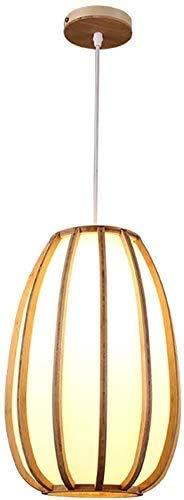 Lampada a Sospensione in Legno, Lampada in Stile Giapponese, Lampada Lampadario in Legno Creativo per Cucina Camera da Letto Soggiorno Decorazione Ristorante, 25 cm, C-L