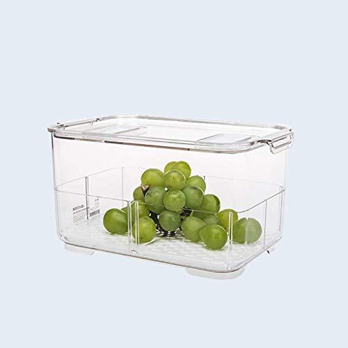 HYRGLIZI Recipientes de Almacenamiento de Alimentos para frigoríficos con Tapas Tanque de Sellado de Almacenamiento de Cocina Plástico Separado Vegetal Fruta Caja Fresca Gran ml (Tamaño: Una Sola Cap