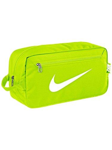 Nike Brasilia 6Borsa Porta Scarpe da Uomo, Verde/Bianco (Volt/Volt/White), Taglia Unica
