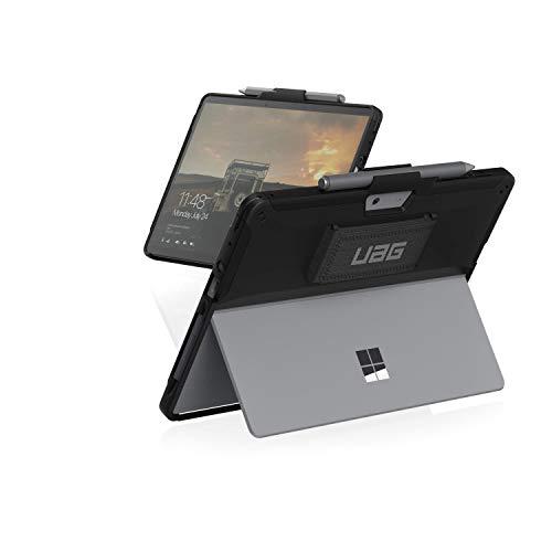 Urban Armor Gear Scout Hülle für Microsoft Surface Go 2 (2020) / Go (2018) Schutzhülle (360° drehbare Handschlaufe, Schultergurt kompatibel, Surface Pen Halterung) - schwarz
